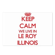 Keep calm we live in Le R Postcards (Package of 8)