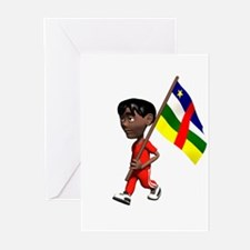 Central African Republic Boy Greeting Cards (Packa