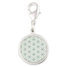 Flower of Life Ptn Grn/W Charms