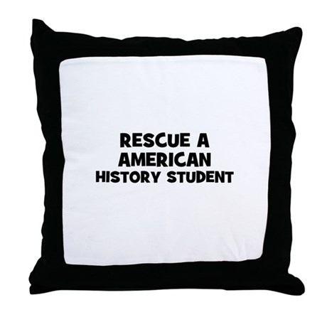 Rescue A American History Stu Throw Pillow