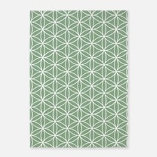 Flower Of Life Ptn W/grn 5'x7'area Rug