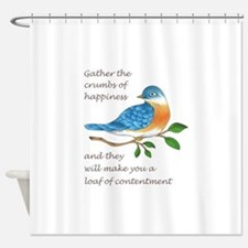 CRUMBS OF HAPPINESS Shower Curtain