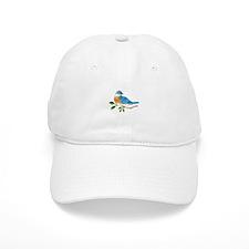 BLUEBIRD ON BRANCH Baseball Baseball Cap