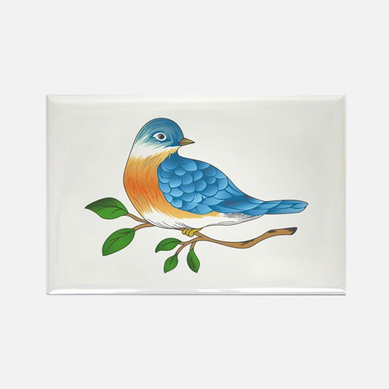 BLUEBIRD ON BRANCH Magnets
