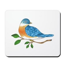 BLUEBIRD ON BRANCH Mousepad