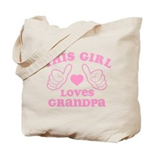 This Girl Loves Grandpa Tote Bag