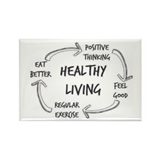 Cute Healthy living Rectangle Magnet (10 pack)