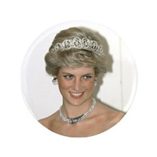 "Stunning! HRH Princess Diana 3.5"" Button"