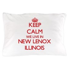 Keep calm we live in New Lenox Illinoi Pillow Case