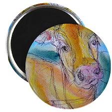 Golden cow, animal art Magnets