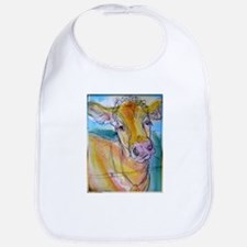 Golden cow, animal art Bib
