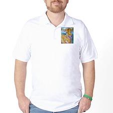 Golden cow, animal art T-Shirt