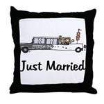 Just Married Stretch Throw Pillow