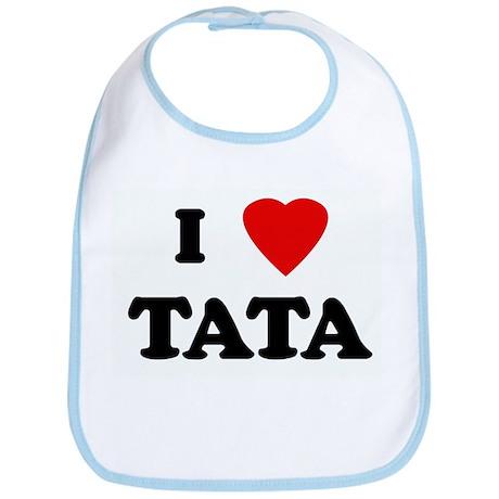 I Love TATA Bib