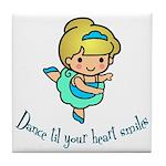 Dance Hearts Tile Coaster