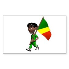 Congo Boy Rectangle Decal