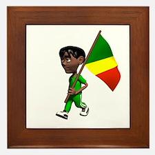Congo Boy Framed Tile