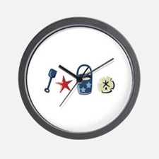 BEACH BORDER Wall Clock