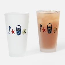 BEACH BORDER Drinking Glass