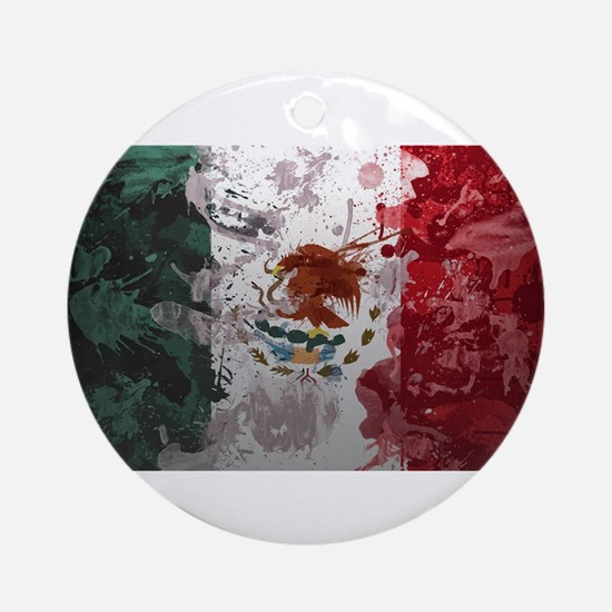 Mexican Flag Ornament (Round)