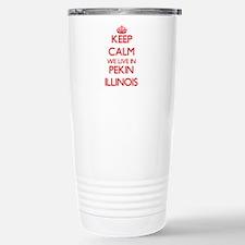 Keep calm we live in Pe Stainless Steel Travel Mug