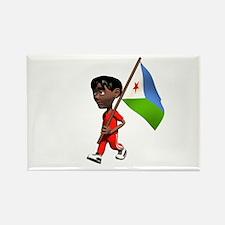 Djibouti Boy Rectangle Magnet