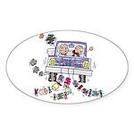 Wedding Car Oval Sticker