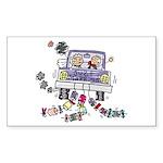 Wedding Car Rectangle Sticker