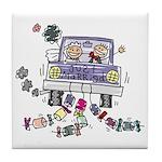 Wedding Car Tile Coaster