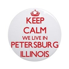 Keep calm we live in Petersburg I Ornament (Round)