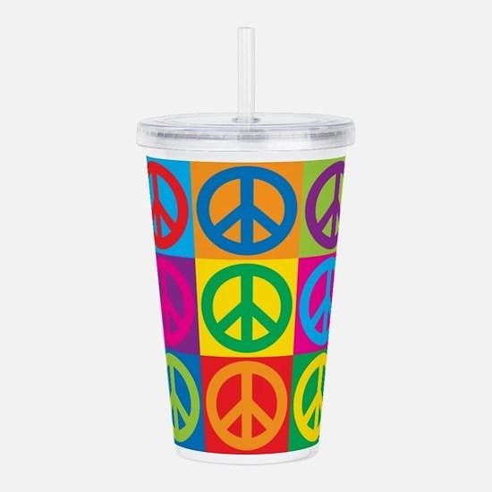 Pop Art Peace Acrylic Double-wall Tumbler