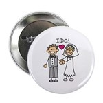I Do Couple Button