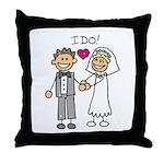 I Do Couple Throw Pillow