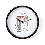 I Do Couple Wall Clock