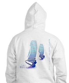 Twin Surfer White Hoodie
