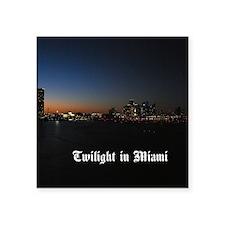 """Twilight in Miami Square Sticker 3"""" x 3"""""""