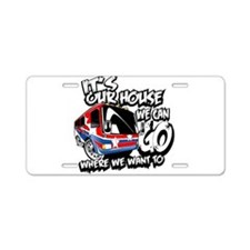 Our RV Aluminum License Plate