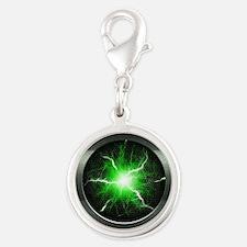 Borg Regeneration Disc Silver Round Charm
