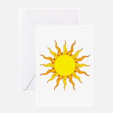 Grunge Sun Greeting Cards