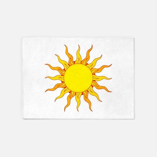 Grunge Sun 5'x7'Area Rug
