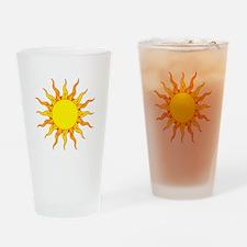 Grunge Sun Drinking Glass