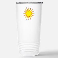 Grunge Sun Travel Mug