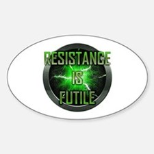 Resistance is Futile Oval Decal