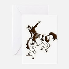 Bucking horse Greeting Cards (Pk of 10)