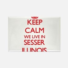 Keep calm we live in Sesser Illinois Magnets