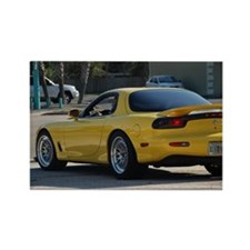 Yellow Rx7 Rectangle Magnet