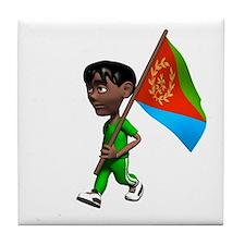 Eritrea Boy Tile Coaster