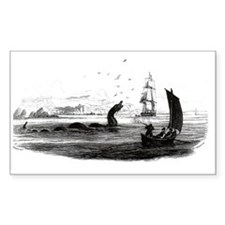 1755 Sea Serpent Rectangle Decal