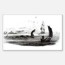 1755 Sea Serpent Rectangle Decal