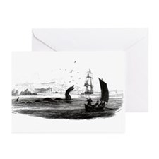 1755 Sea Serpent Greeting Cards (Pk of 10)